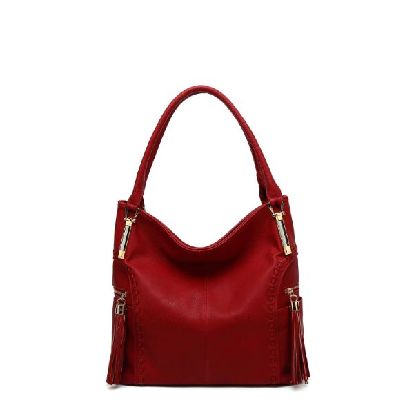 MKF Collection Betsy Shoulder Bag by Mia K. Farrow-Red-Classic-Daily Steals