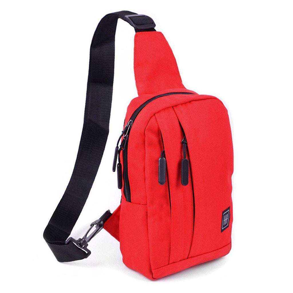 Crossbody Sling Bag with Reversible Strap-Red-Daily Steals