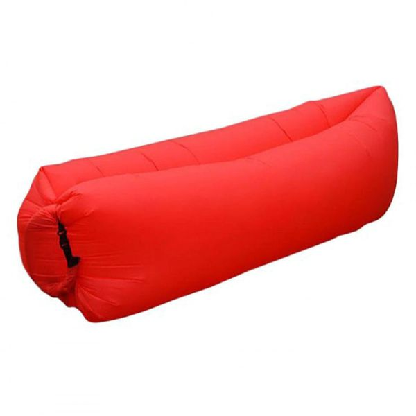 update alt-text with template Daily Steals-Air Lounger Inflatable Portable Air Bed for Indoor and Outdoor with Carry Bag-Outdoors and Tactical-Red-250 x 75 cm-