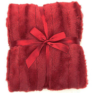 Ultra Cozy Faux Fur Microplush Reversible Throw Blanket-60x50 - Maroon-Daily Steals