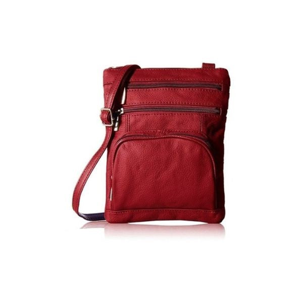 Super Soft Leather Crossbody Bag-Wine-Daily Steals