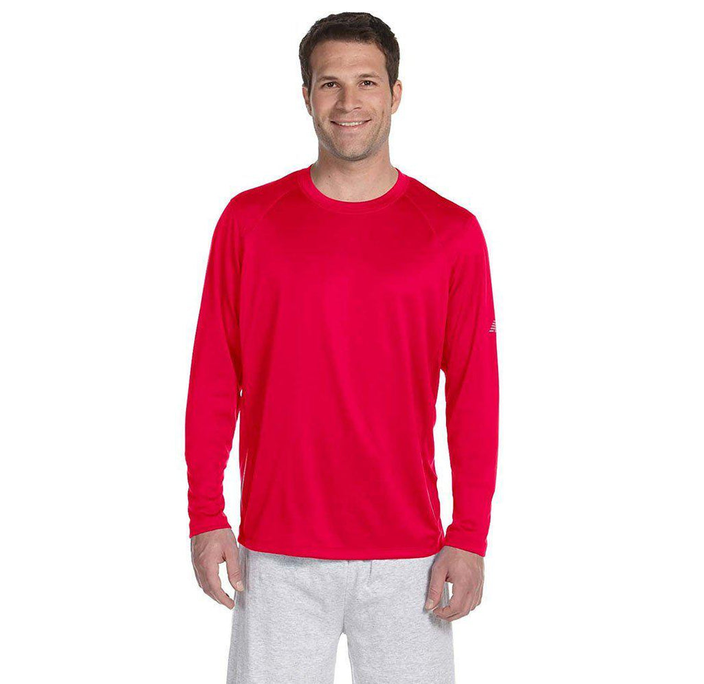 Daily Steals-New Balance Men's Long Sleeve Performance T-Shirt-Men's Apparel-RED-2X-