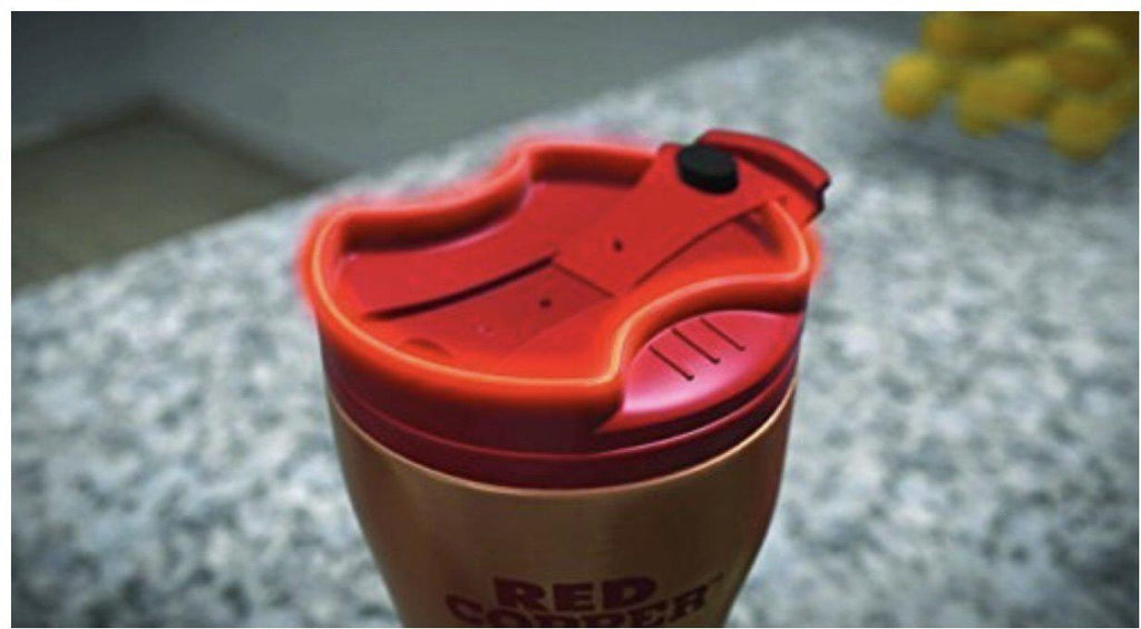 [2-Pack] Red Copper Mug - 16 oz. Ceramic-Lined Double-Insulated Hot/Cold Travel Mug-Daily Steals