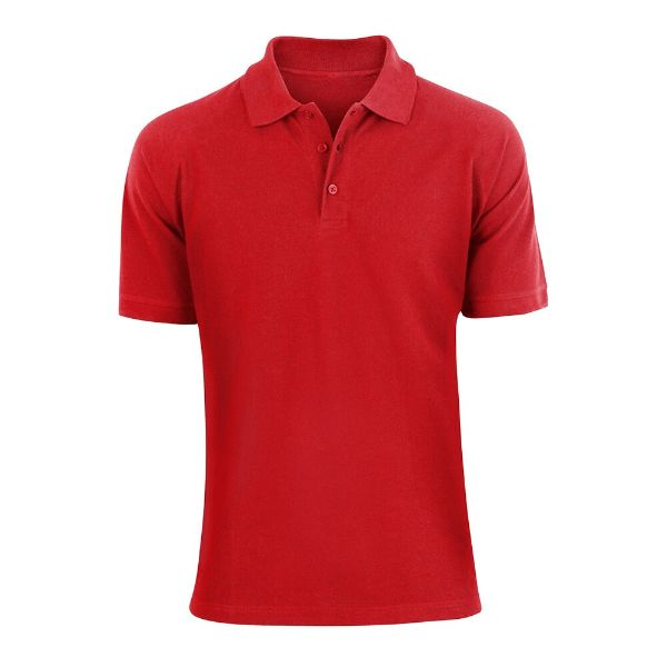 Men's Fashion Classic Fit Cotton Polo Shirt - Multiple Colors-Red-L-Daily Steals