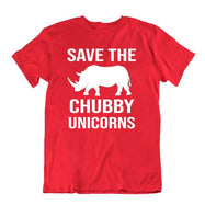 Save The Chubby Unicorns T-Shirt-Red-S-Daily Steals