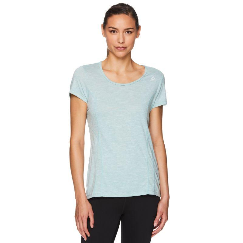 Reebok T-shirt Performance Femme - Gris Brume Heather-L-Daily Steals