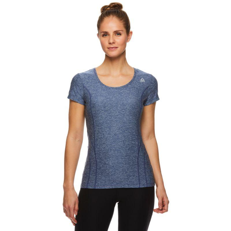 Reebok Tee-shirt Performance Pour Femme - Bleu Médiéval Heather-M-Daily Steals