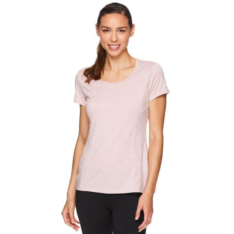 Reebok T-shirt de performance pour femme - Mauve pâle Heather-L-Daily Steals