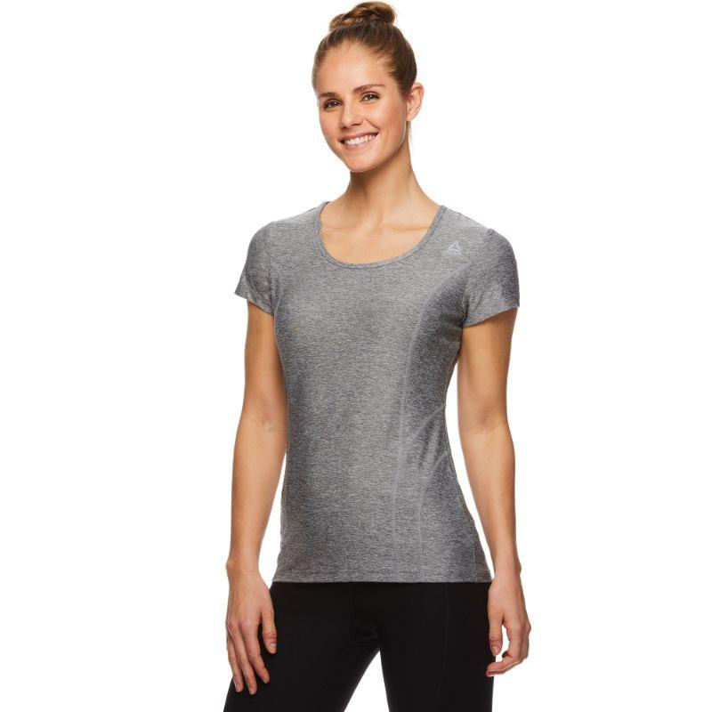 Reebok T-shirt de performance pour femme - Quietshade Heather-L-Daily Steals