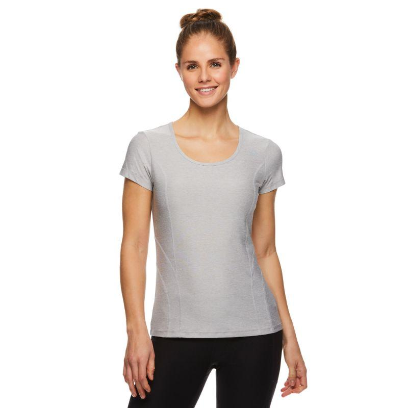 Reebok T-shirt Performance Femme ajusté - Applique en argent Heather-L-Daily Steals