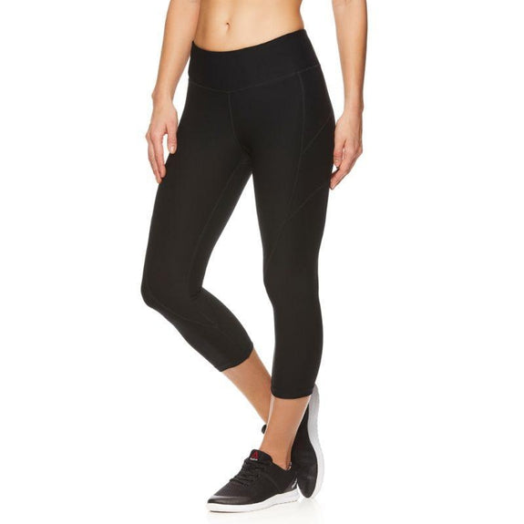Reebok Women's Quick-Dry Capri Leggings-Black-XS-Daily Steals
