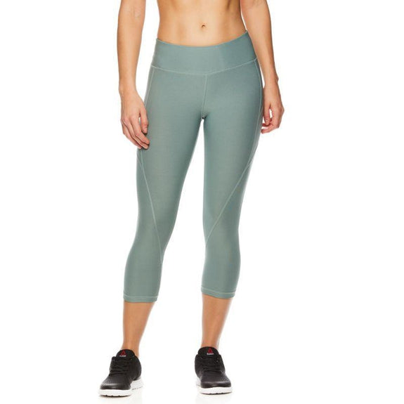 Reebok Women's Quick-Dry Capri Leggings-Chinois Green-S-Daily Steals