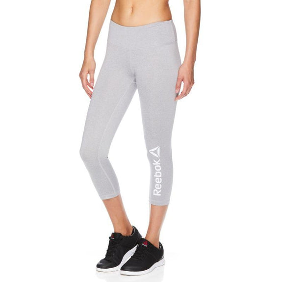 Reebok Leggings Quick Capri pour femmes - Gris Heather-XS-Daily Steals