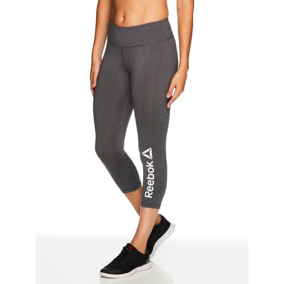 Reebok Leggings Quick Charri pour femmes - Charcoal Heather-XS-Daily Steals