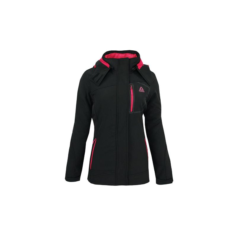 Reebok Women's Softshell System Jacket-Black Pop-S-Daily Steals