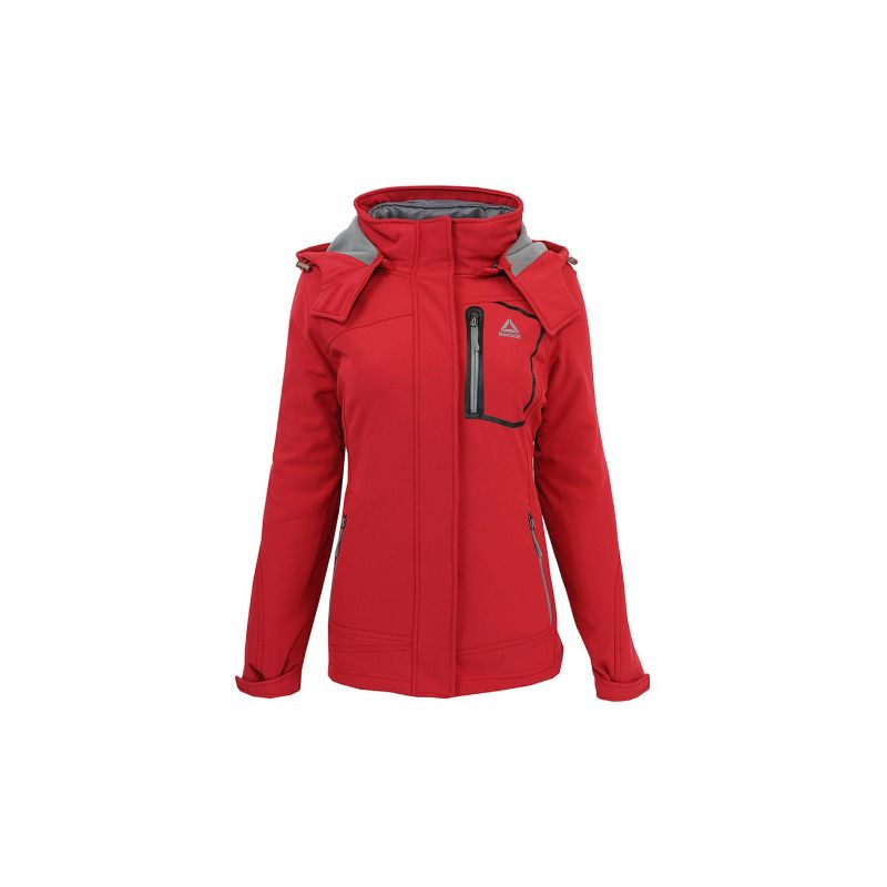 Reebok Veste Softshell System pour Femme-Rouge-S-Daily Steals