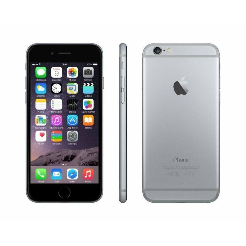 Refurbished Apple iPhone 6 64GB Space Grey Factory Unlocked with Apple EarPods (Refurbished)-
