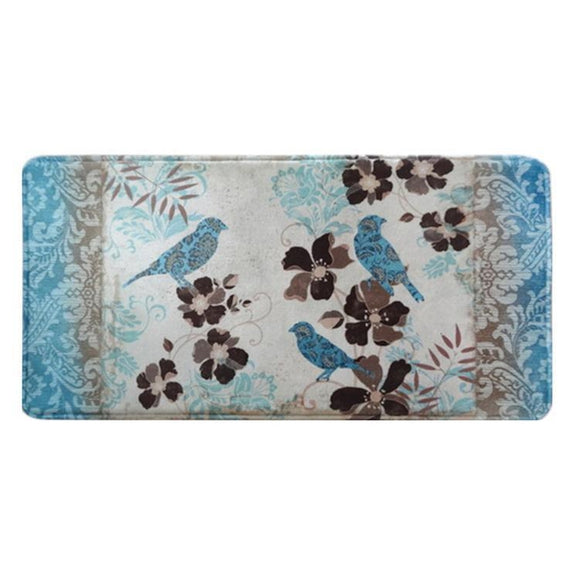 "Relaxed Chef 20""x40"" Anti-Fatigue Kitchen Mat-Blue Bird-Daily Steals"