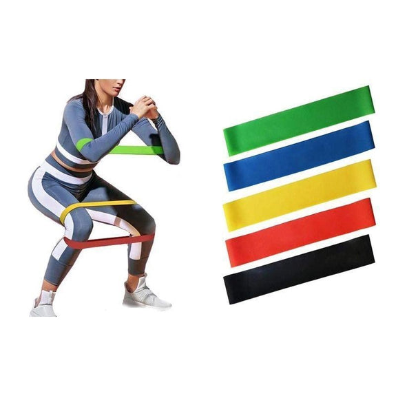 Resistance Exercise Band Set - 6 Piece-