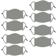 Reusable Ear Loop Face Mask - 2 , 4, or 8 Pack-Gray-8 Pack-