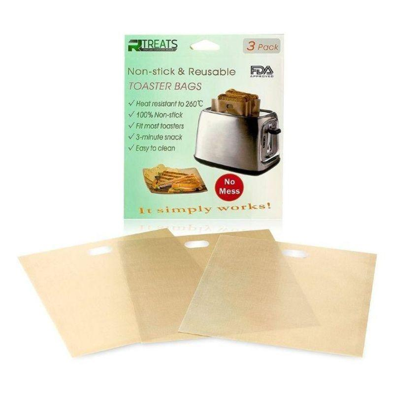 Reusable Non-Stick Toaster Bags - 12 Pack-