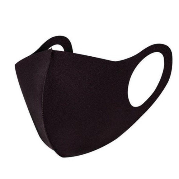 Reusable Washable Black Face Masks - 6 Pack-