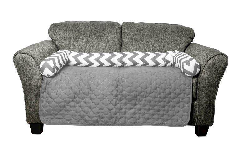 "Daily Steals-Reversible Water Resistant Pet Furniture Protector-Pets-Grey-45x34""-"