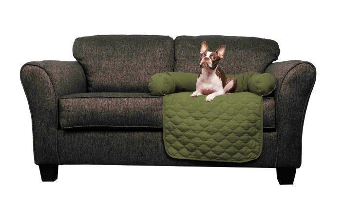 "Daily Steals-Reversible Water Resistant Pet Furniture Protector-Pets-Sage-Chocolate-21x34""-"