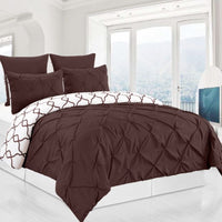 Reversible Premium Pintuck Duvet Cover and Bed Shams - 3 Piece Set