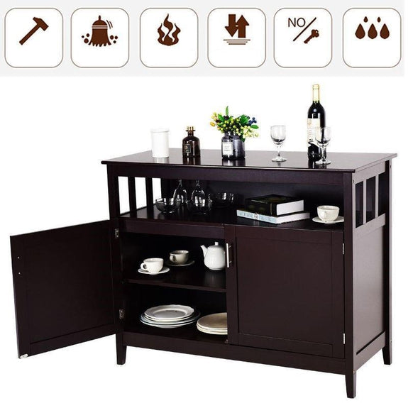 Modern Wooden Kitchen Storage Cabinet-Daily Steals