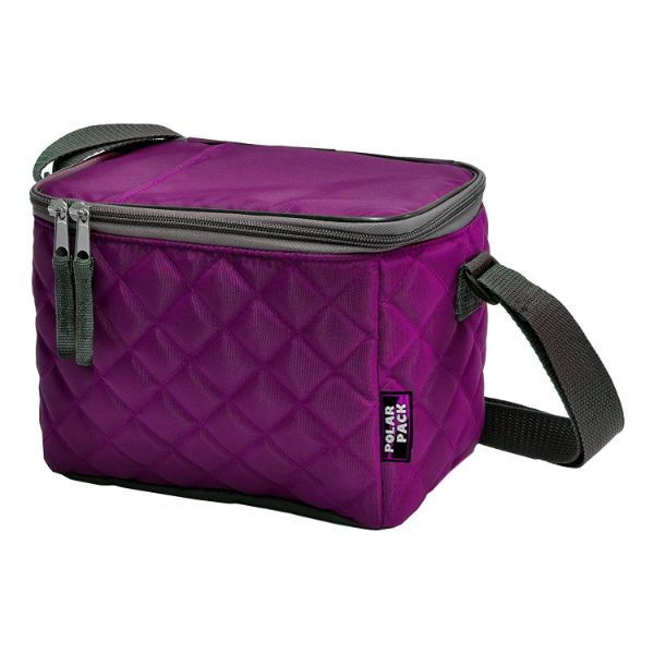 POLAR PACK Quilted 6 Can Cooler-Purple-Daily Steals