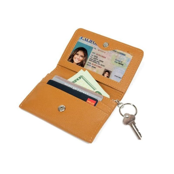 RFID Genuine Leather Key Ring Wallet, Credit Card Holder-Daily Steals