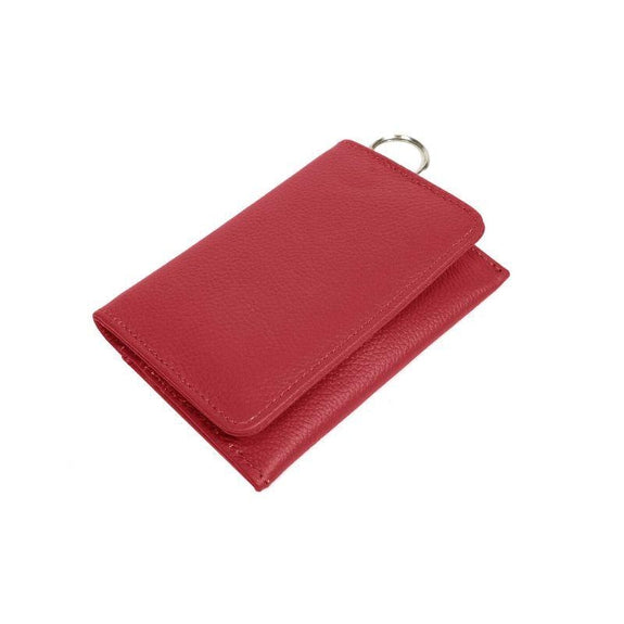 RFID Genuine Leather Key Ring Wallet, Credit Card Holder-Wine-Daily Steals