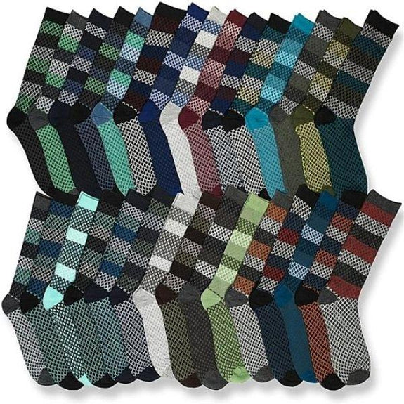 John Weitz Men's Dress Socks - 30 Pair-Daily Steals
