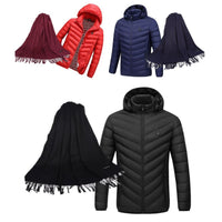 Caldo Heated Women's Jacket and Matching Pashmina Scarf Set