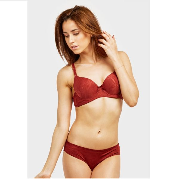 Mechaly Jacquard Full Cup Bra and Bikini Panty Set - 6 Pack-Daily Steals