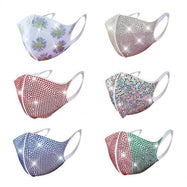 Rhinestone Summer Bling Face Mask - 6 Pack-