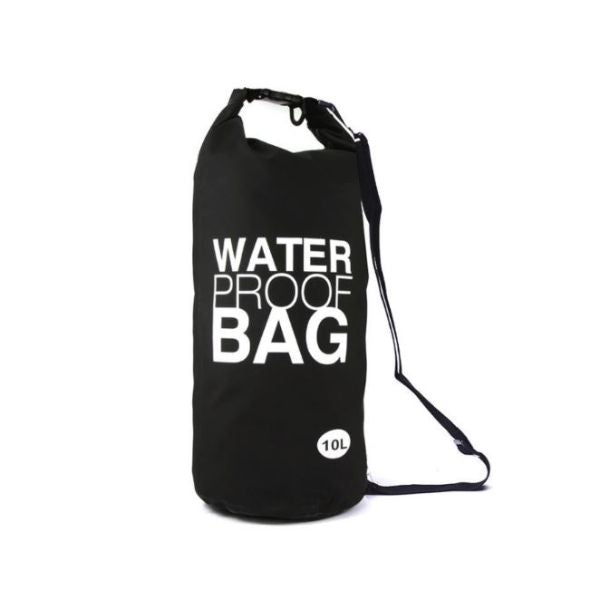 Waterproof 10-Liter Dry Bag with Shoulder Strap-Black-Daily Steals