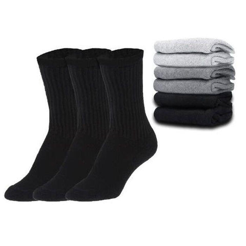 update alt-text with template Daily Steals-Everlast Men's Regular Tube Crew Socks - Black & Grey - 12 Pairs-Men's Accessories-