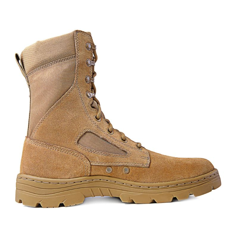 "Ridge Footwear 3208 Men's Dura-Max 8"" Suede Leather Coyote Tactical Boots-Daily Steals"
