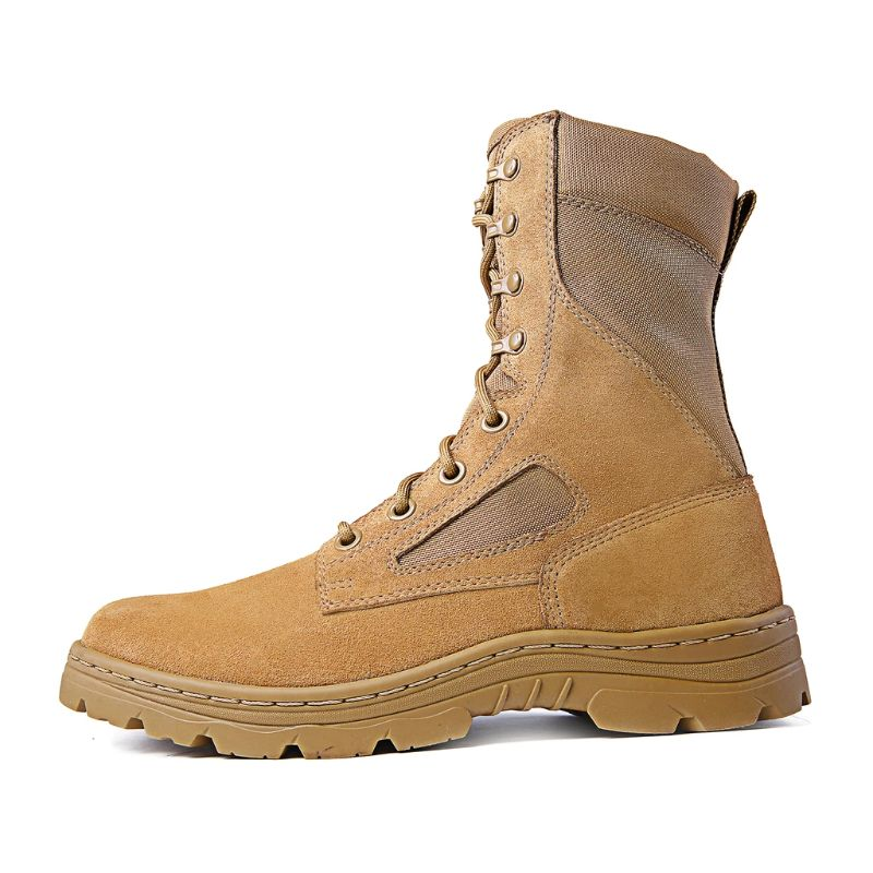 "Ridge Footwear 3208 Men's Dura-Max 8"" Suede Leather Coyote Tactical Boots-4-Daily Steals"
