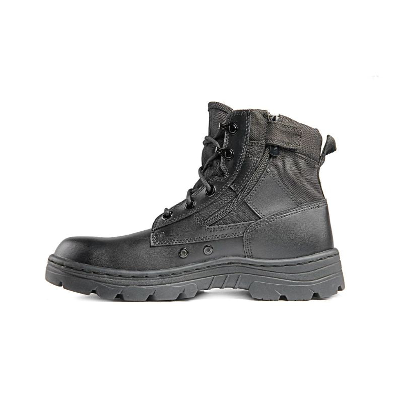 Ridge Footwear 4205 Dura-Max Mid-Zipper Tactical Black Leather Boots-4-Daily Steals