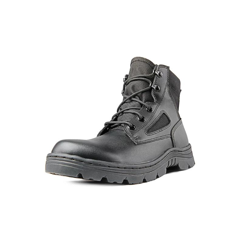 Ridge Footwear 4205 Dura-Max Mid-Zipper Tactical Black Leather Boots-Daily Steals
