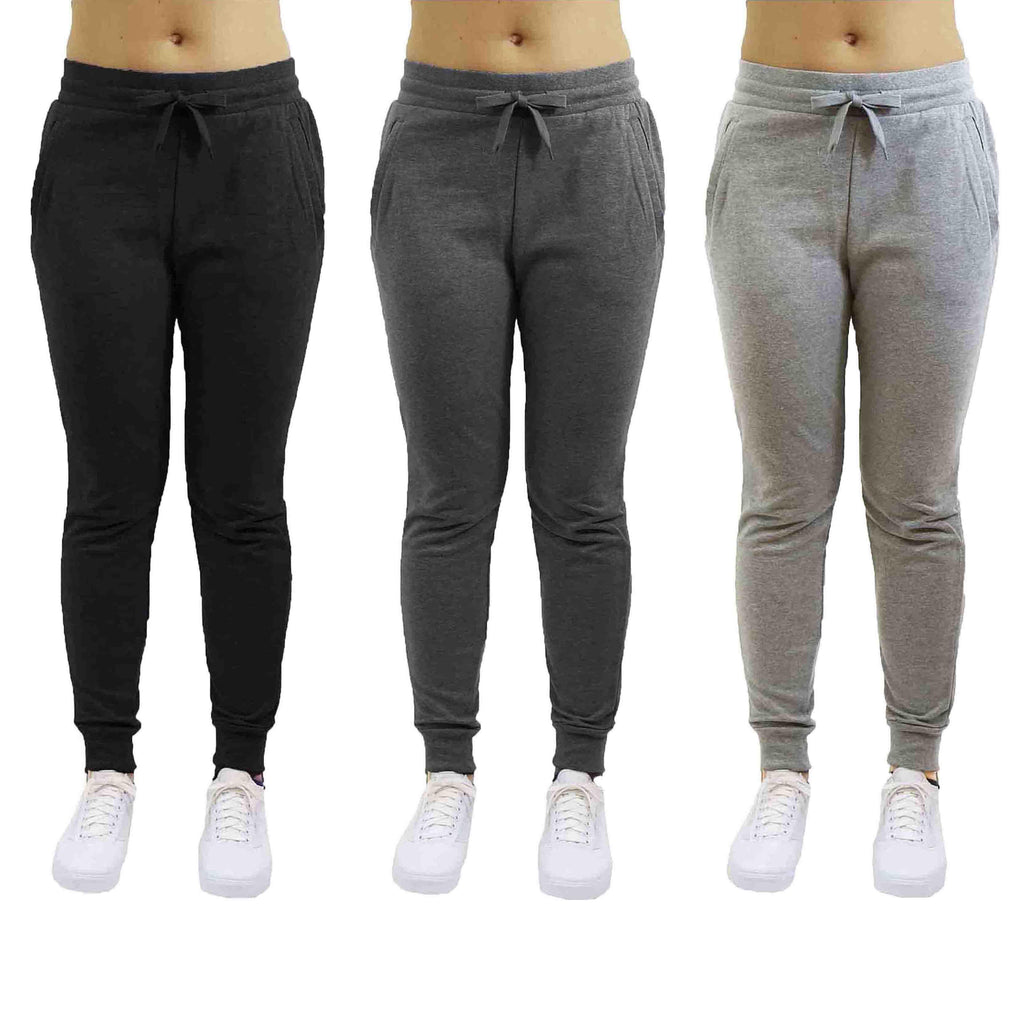 Women's French Terry Jogger Pants - 2 Pack-Daily Steals