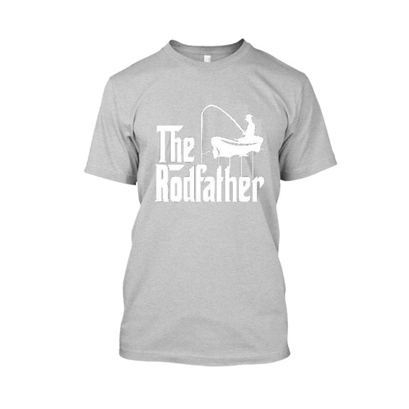 Adult Rodfather Funny Fishing Father/Grandfather Tshirt - 8 Color Options-Sports Gray-S-Daily Steals
