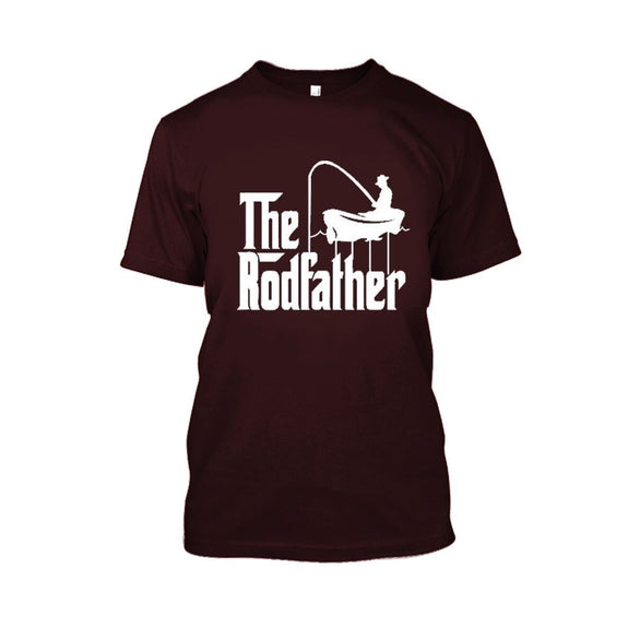 Adult Rodfather Funny Fishing Father/Grandfather Tshirt - 8 Color Options-Maroon-S-Daily Steals