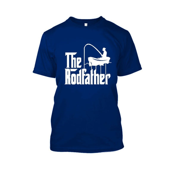Adult Rodfather Funny Fishing Father/Grandfather T-Shirt - 8 Color Options-Royal Blue-S-Daily Steals