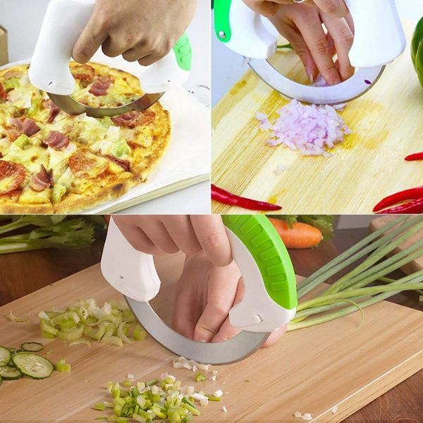 "Rolling 5"" Slicer for Pizza, Veggies, Pastries & More-Daily Steals"