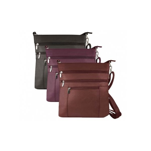 update alt-text with template Daily Steals-Roma Serena Crossbody Bag - 3 Colors-Women's Accessories-Black-