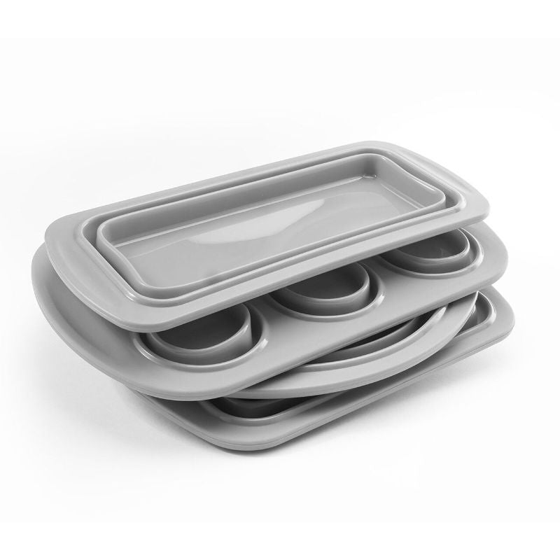 Cook's Companion Collapsible Silicone Bakeware Set - 4 Piece